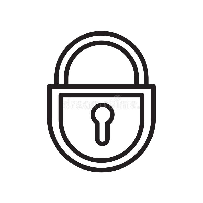 uitsluitings tagout pictogram dat op witte achtergrond wordt geïsoleerd vector illustratie