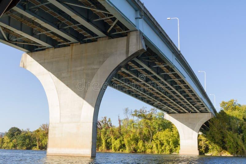 Uitspreidende rivierbrug stock afbeeldingen