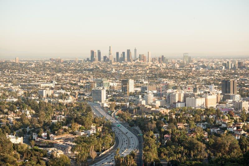 Uitspreidende stad van Los Angeles stock afbeelding