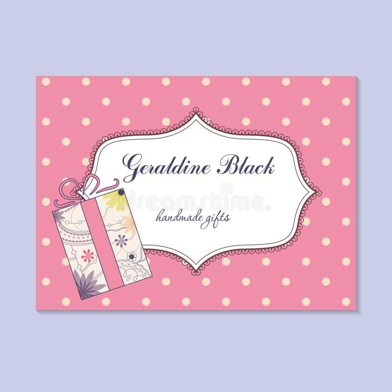 Uitstekend adreskaartje voor met de hand gemaakte giftenmaker royalty-vrije illustratie