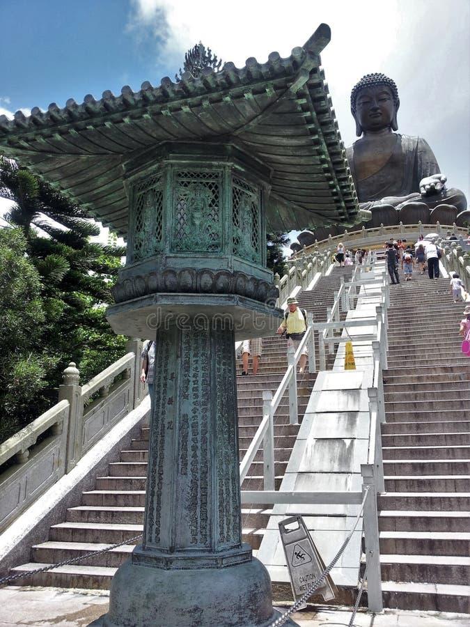 Uitstekend artefact in Tian Tan Big Buddha, Hong Kong stock afbeeldingen