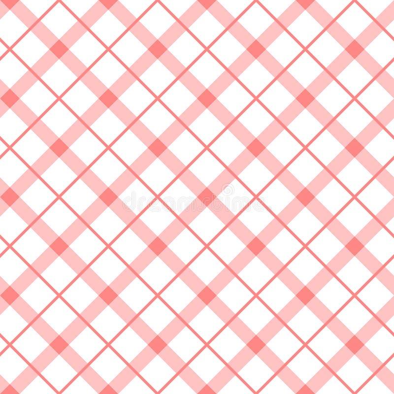 Uitstekend baby roze naadloos patroon met eenvoudige geometrische vormen Controleachtergrond van lijnen wordt gemaakt die stock illustratie
