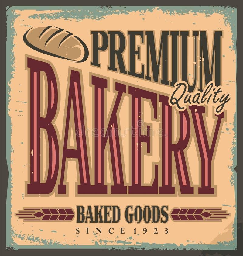 Uitstekend bakkerijteken royalty-vrije illustratie