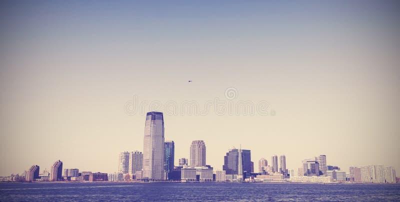 Uitstekend beeld van de Stad van New York, oude retro stijl stock fotografie