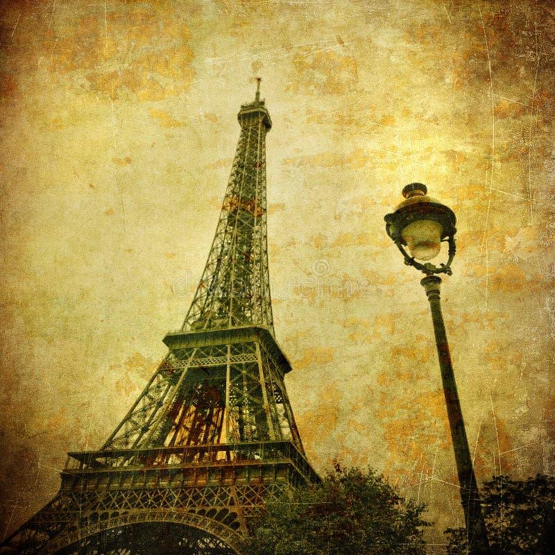 Uitstekend beeld van de toren van Eiffel, Parijs, Frankrijk royalty-vrije stock foto's