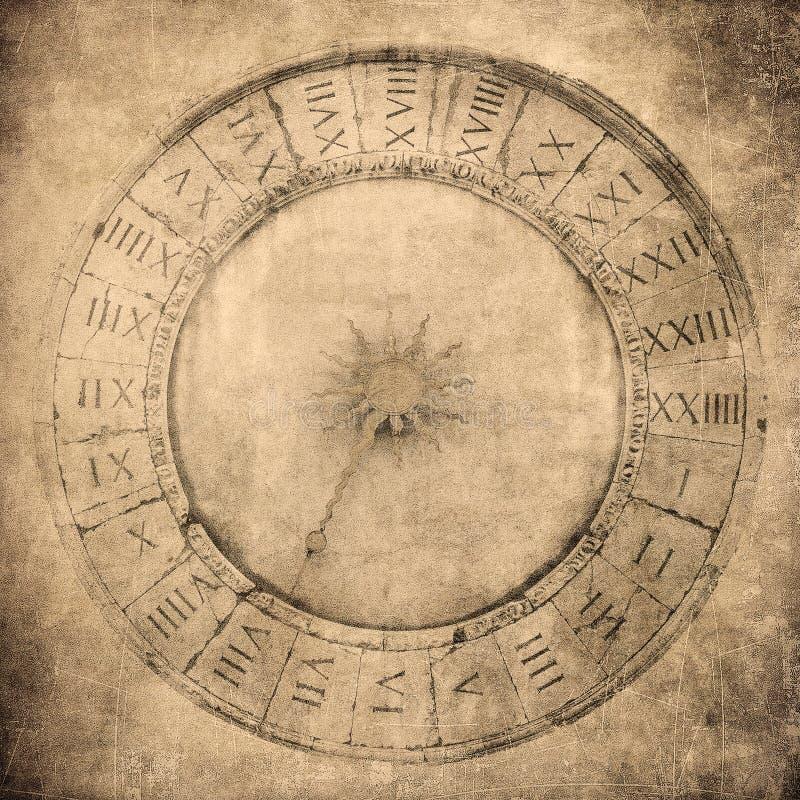 Uitstekend beeld van Venetiaanse klok stock foto