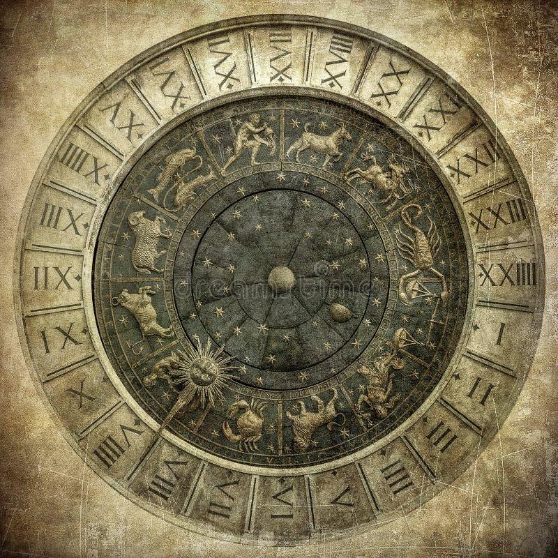 Uitstekend beeld van Venetiaanse klok royalty-vrije stock afbeeldingen