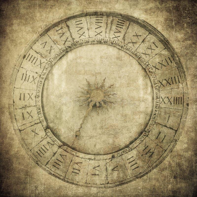 Uitstekend beeld van Venetiaanse klok stock illustratie