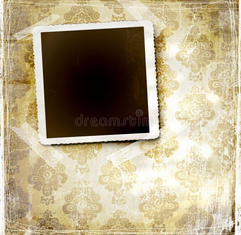 Uitstekend behang met bloemenontwerp stock illustratie