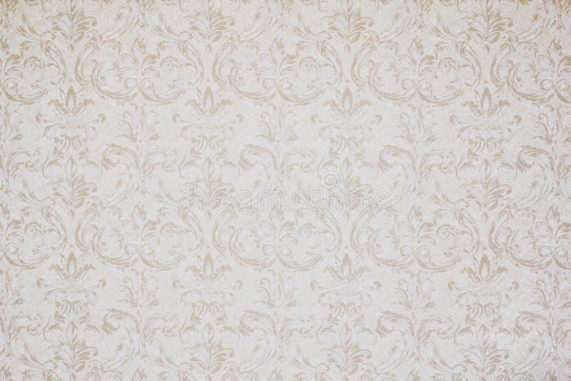 Uitstekend behang met krullen en bloemen vector illustratie