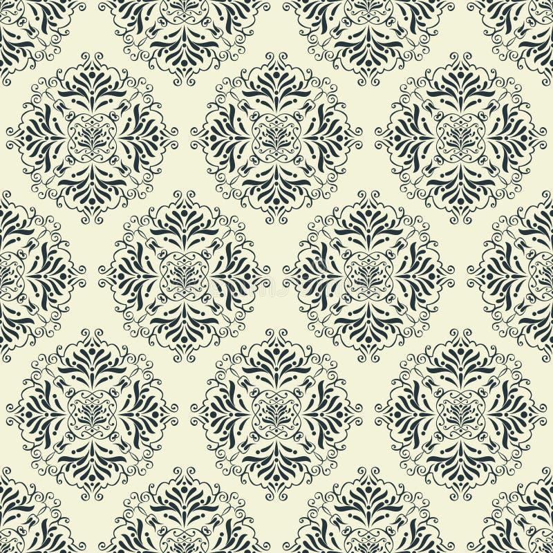 Uitstekend behang naadloos patroon stock illustratie