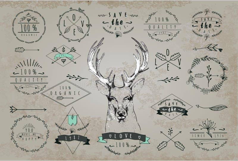 Uitstekend Beste embleem Ontwerp voor T-shirt royalty-vrije illustratie