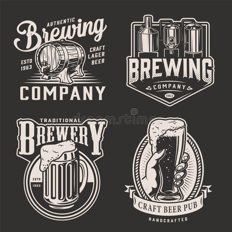 Uitstekend bier logotypes royalty-vrije illustratie