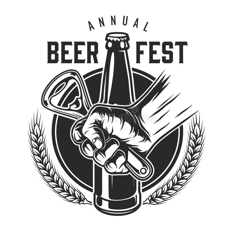 Uitstekend bierfestival logotype royalty-vrije illustratie