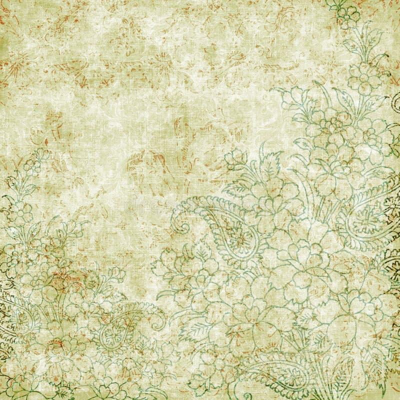 Uitstekend bloemen antiek thema als achtergrond stock illustratie