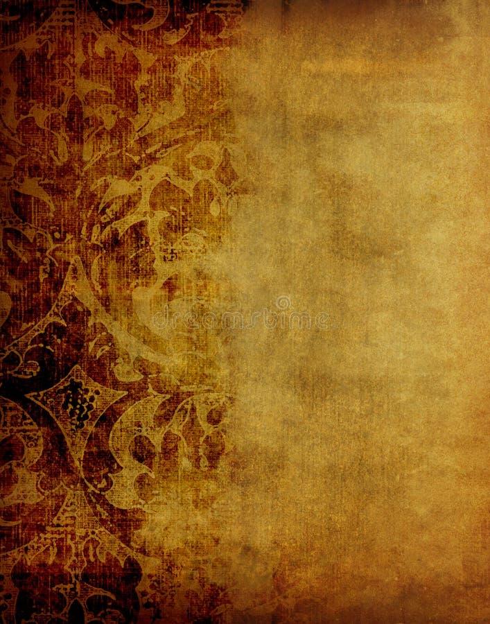 Uitstekend bloemendocument vector illustratie