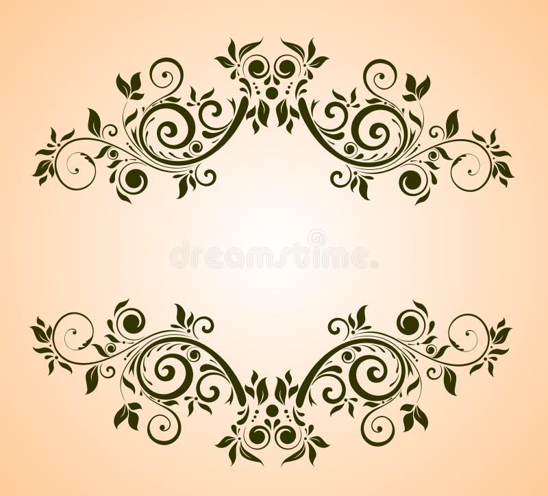 Download Uitstekend bloemenframe vector illustratie. Illustratie bestaande uit grens - 54079273