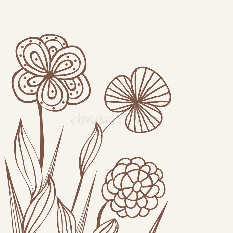 Uitstekend bloempatroon royalty-vrije illustratie