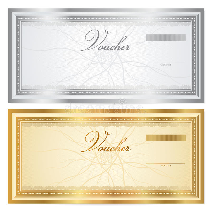 Uitstekend bon (coupon) malplaatje met grens stock illustratie