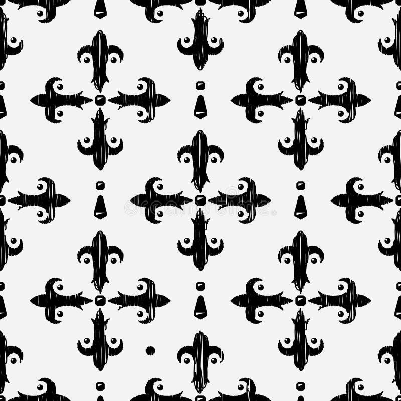 Uitstekend borduurwerk naadloos patroon vector illustratie