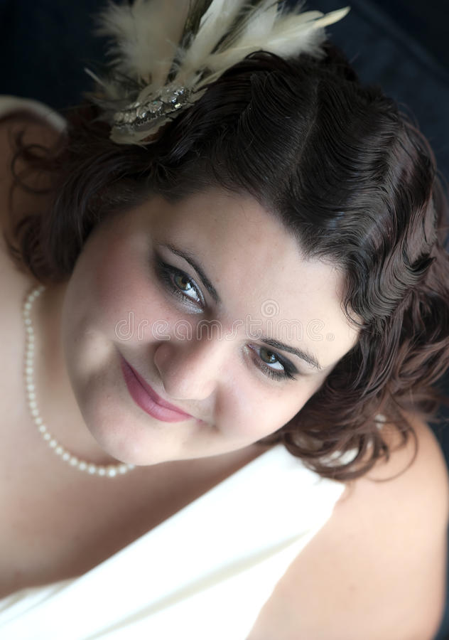 Uitstekend bruidkapsel stock foto