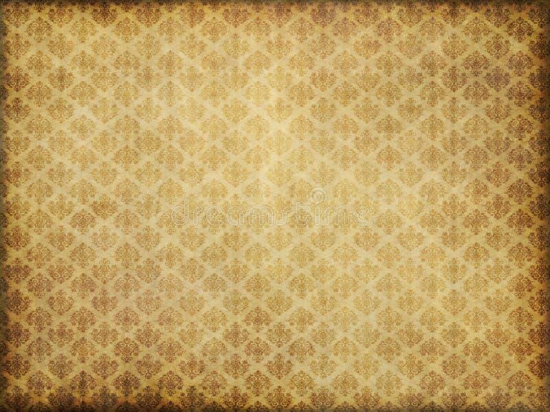 Uitstekend damastbehang royalty-vrije illustratie