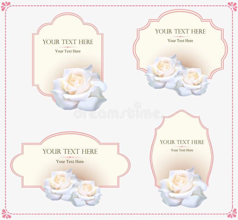 Uitstekend de kaart vectormalplaatje van de ornamentgroet Retro Luxeuitnodiging, Koninklijk Certificaat Bloeit kader royalty-vrije illustratie
