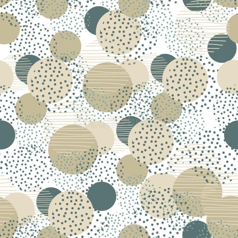 Uitstekend de meetkunde naadloos patroon van de stijlcirkel het ontwerp van de illustratieoppervlakte voor druk en Web royalty-vrije illustratie