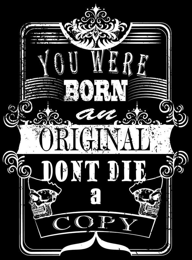 Uitstekend de T-shirt Grafisch Vectorontwerp van de Sloganmens royalty-vrije stock foto