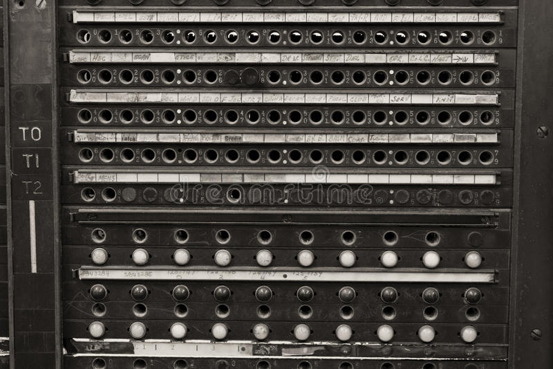 Uitstekend de Telefoonschakelbord van het Kloksysteem stock foto's