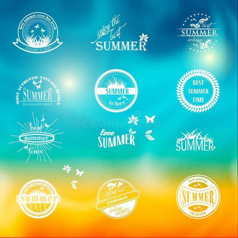 Uitstekend de typografieontwerp van de de zomervakantie met stock illustratie