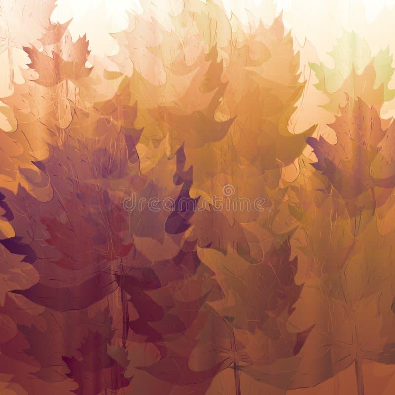 Uitstekend decoratief document Abstract de herfst geweven document Uitstekende kleur bespat op achtergrond Hand getrokken bladkun stock illustratie