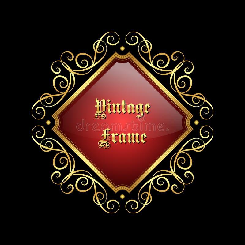 Uitstekend decoratief frame royalty-vrije illustratie