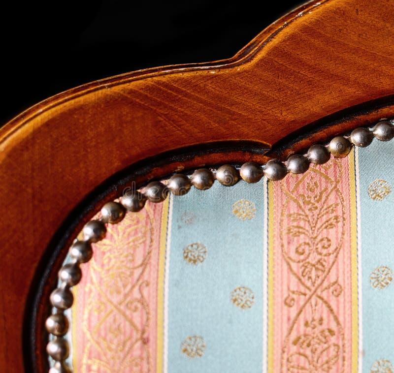 Uitstekend decoratief meubilair - houten stoeldetail royalty-vrije stock afbeelding