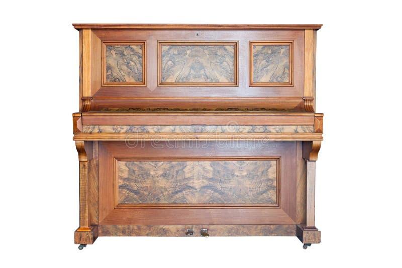 Uitstekend die pianino op witte achtergrond wordt geïsoleerd royalty-vrije stock foto's