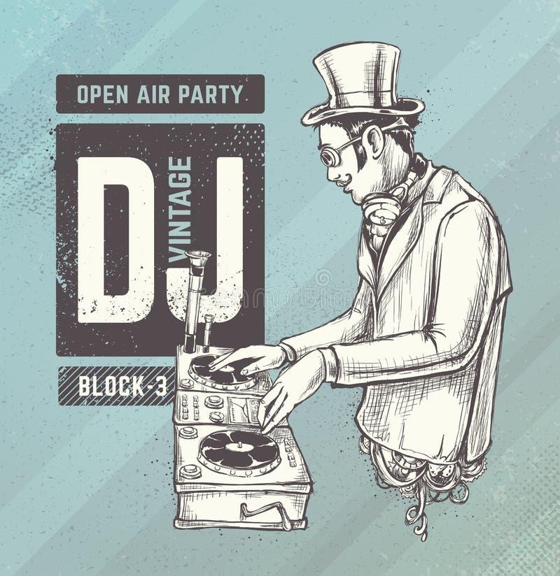 Uitstekend DJ vector illustratie