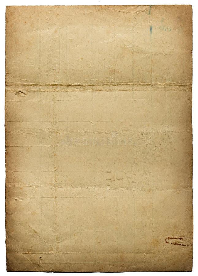 Uitstekend document stock afbeelding