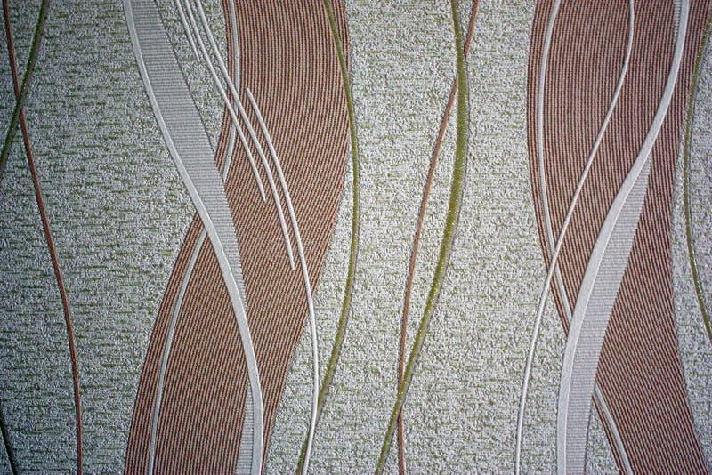 Uitstekend document behang met het ineenstrengelen van roze en witte lijnen in fonkelingen royalty-vrije stock afbeelding