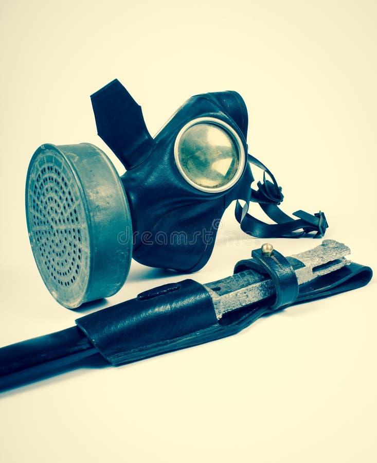 Uitstekend Duits burgerlijk gasmasker WO.II stock foto's