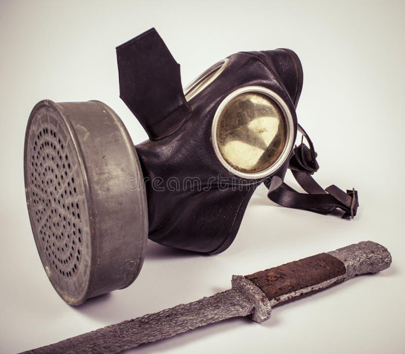 Uitstekend Duits burgerlijk gasmasker WO.II stock afbeeldingen