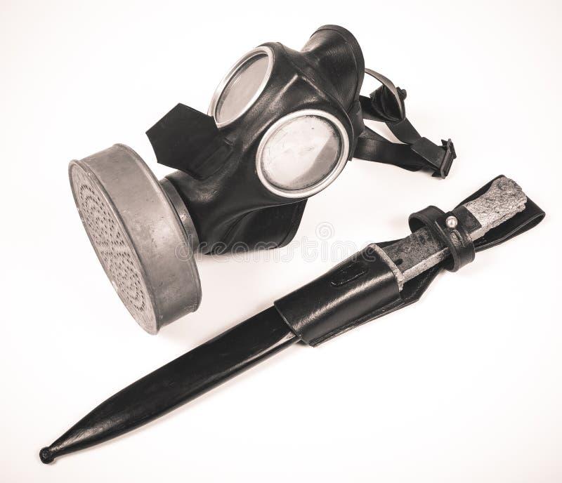 Uitstekend Duits burgerlijk gasmasker WO.II stock afbeelding