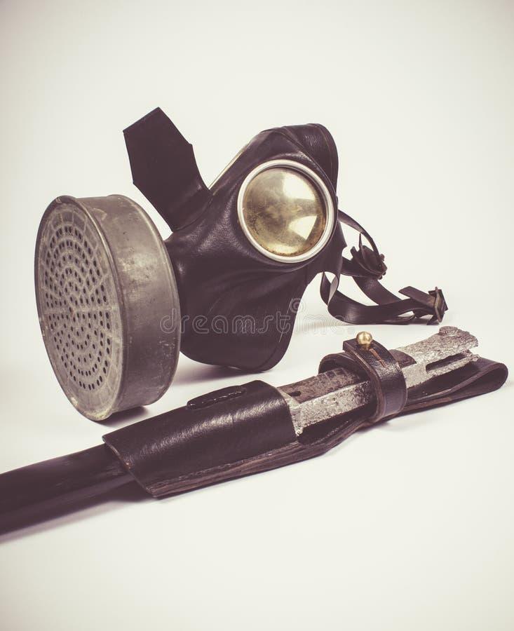 Uitstekend Duits burgerlijk gasmasker WO.II royalty-vrije stock fotografie