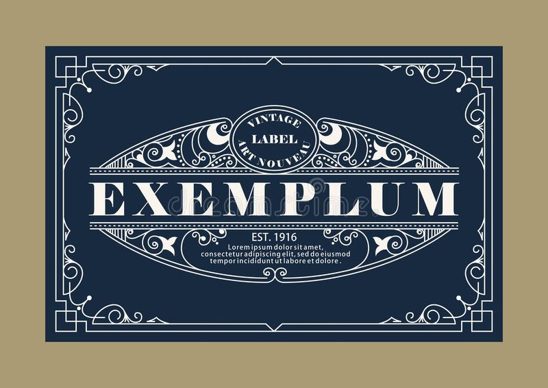 Uitstekend Elegant Lijn Art Logo, van Emdlem en van het Monogram Ontwerp, vectormalplaatje royalty-vrije illustratie