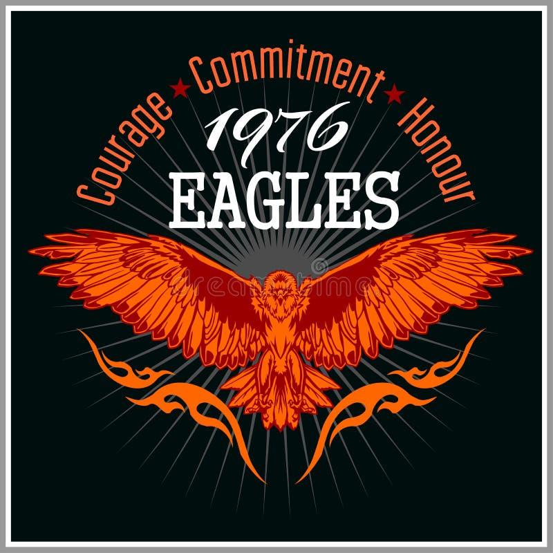 Uitstekend etiket Eagle - Retro embleem vector illustratie