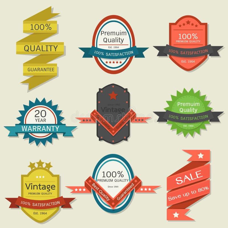 Uitstekend etiket-kenteken ontwerp royalty-vrije illustratie