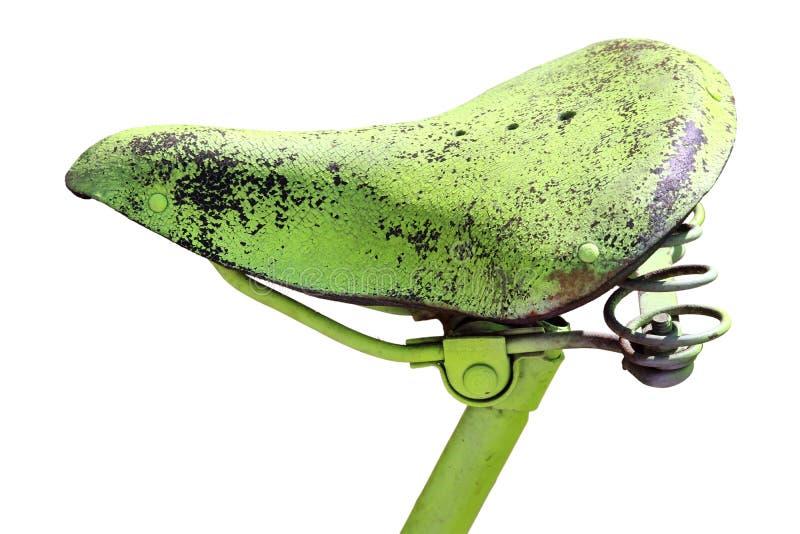 Uitstekend fietszadel royalty-vrije stock afbeelding