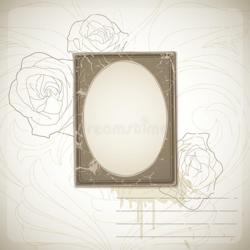 Uitstekend fotoframe stock illustratie