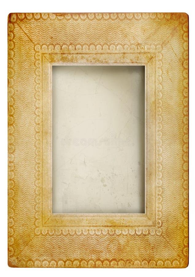 Uitstekend fotoframe tegen wit royalty-vrije stock fotografie