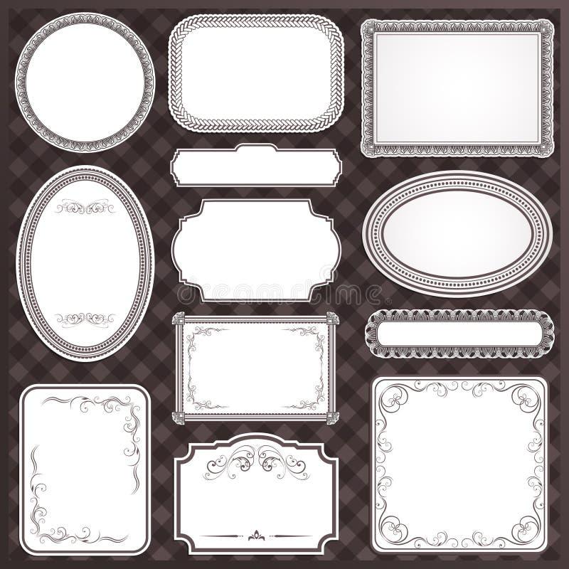 Uitstekend frame vector illustratie