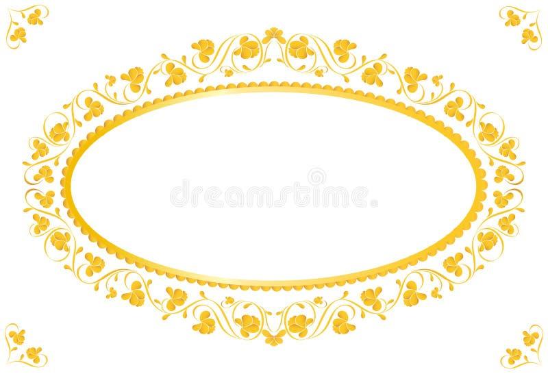 Uitstekend frame in goud vector illustratie